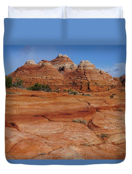 Red Rock Buttes Duvet Cover
