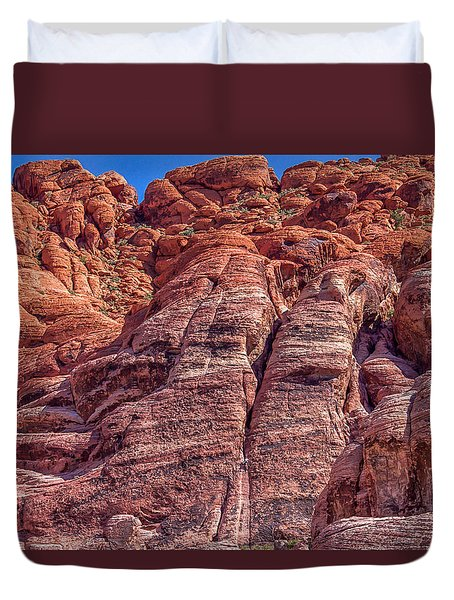 Red Rock Canyon National Conservation Area Duvet Cover by Michael Rogers