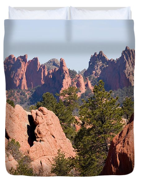 Red Rock Canyon Open Space Park And Garden Of The Gods Duvet Cover