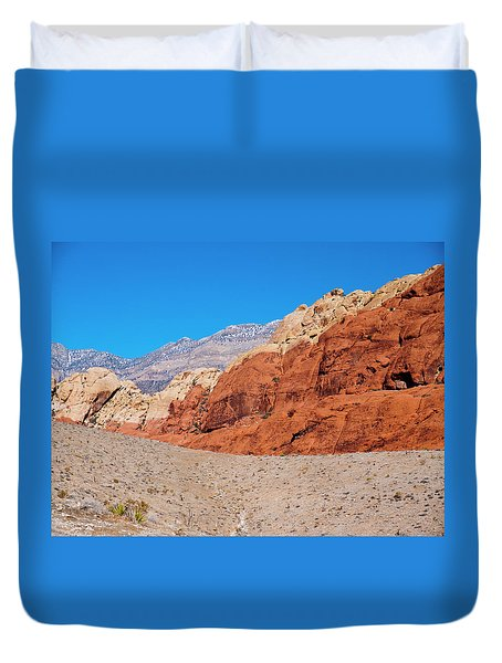 Red Rock Canyon Duvet Cover by Rae Tucker
