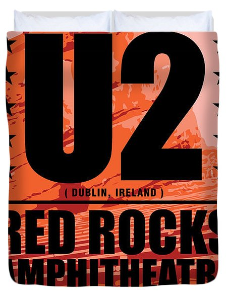 Red Rock Concert Duvet Cover