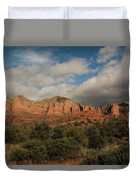 Red Rock Country Sedona Arizona 3 Duvet Cover by David Haskett