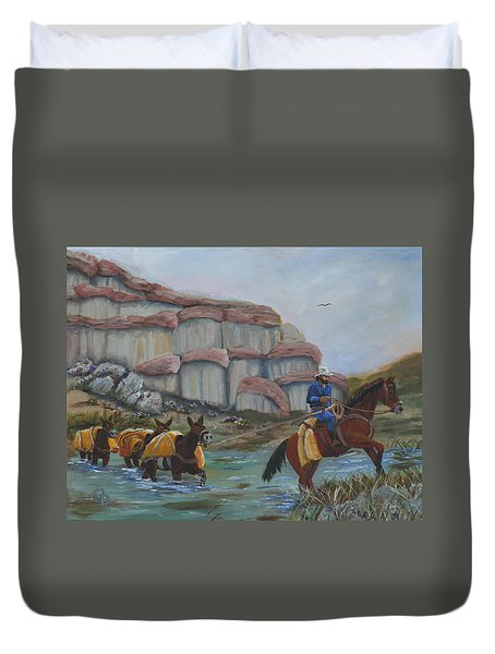 Red Rock Crossing Duvet Cover