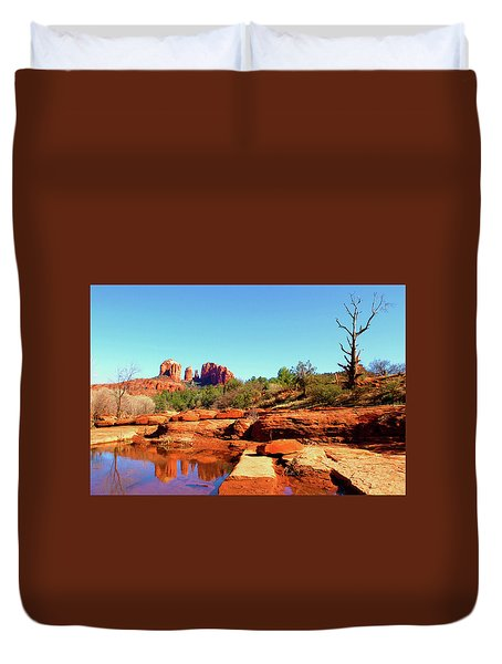 Red Rock Crossing Duvet Cover