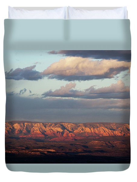 Duvet Cover featuring the photograph Red Rock Crossing, Sedona by Ron Chilston