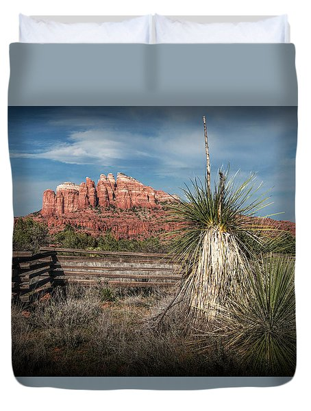Duvet Cover featuring the photograph Red Rock Formation In Sedona Arizona by Randall Nyhof