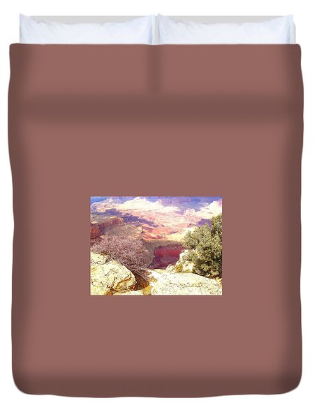 Duvet Cover featuring the photograph Red Rock by Marna Edwards Flavell