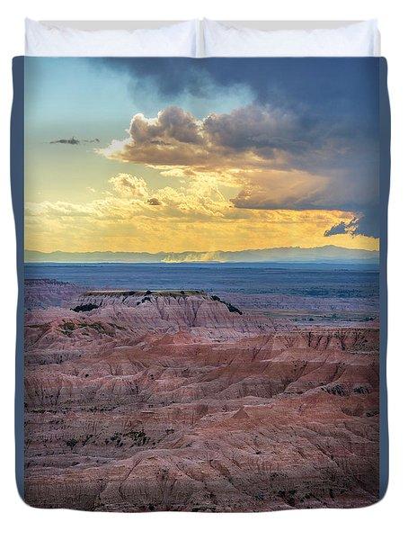 Red Rock Pinnacles Duvet Cover