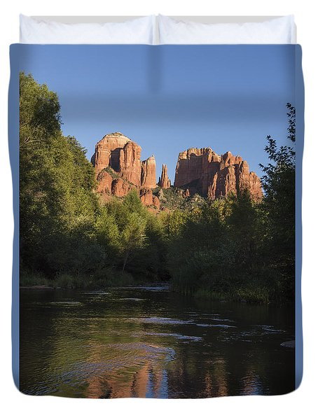 Red Rock Reflections Duvet Cover by Laura Pratt