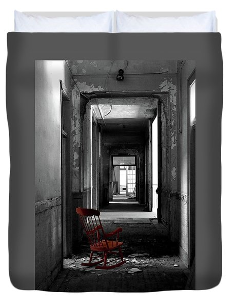 Red Rocker - Preston Castle Duvet Cover