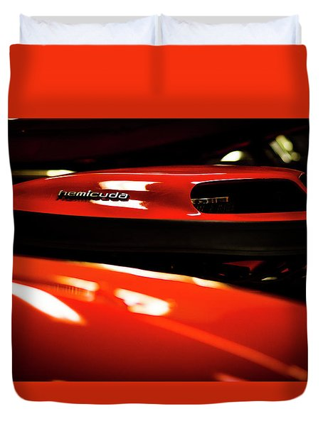 Red Rocket Duvet Cover