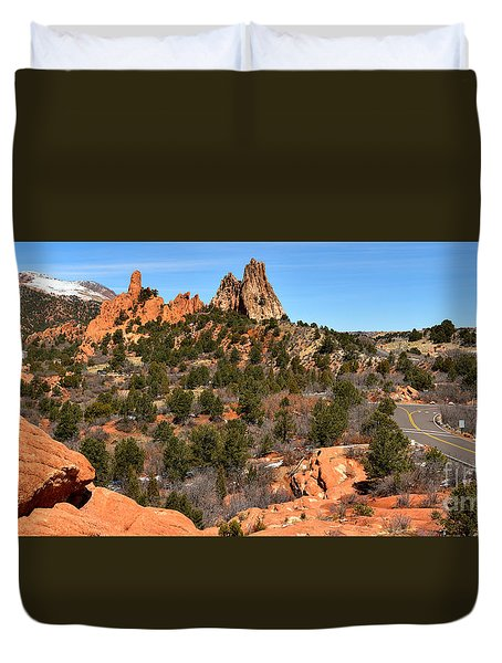 Duvet Cover featuring the photograph Red Rocks At High Point by Adam Jewell