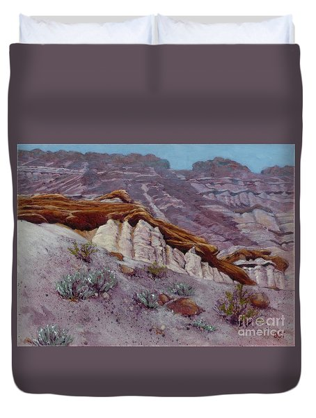 Red Rocks - High Noon Duvet Cover