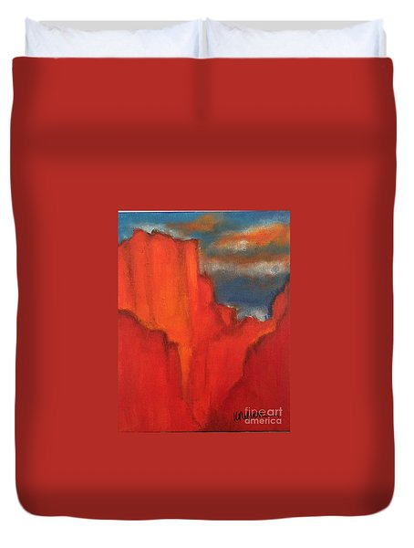 Red Rocks Duvet Cover by Kim Nelson