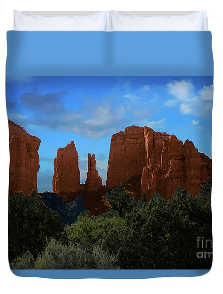 Duvet Cover featuring the photograph Red Rocks Of Sedona Arizona by Anne Rodkin