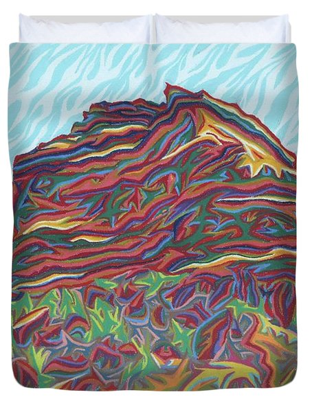Red Rocks Duvet Cover by Robert SORENSEN