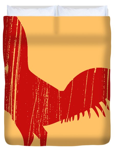Red Rooster Tee Duvet Cover
