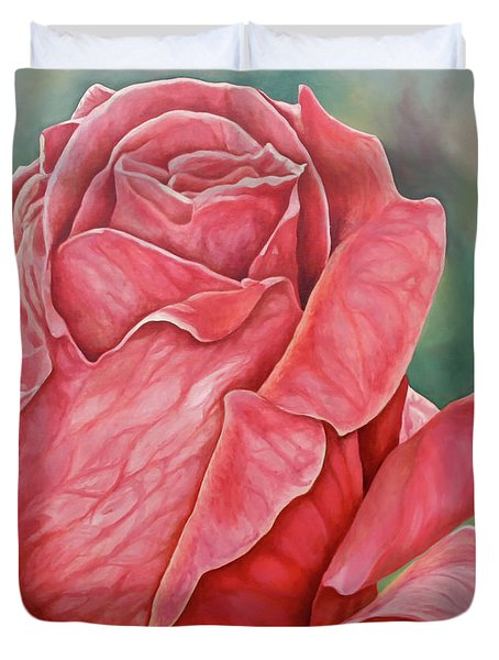Red Rose 93 Duvet Cover