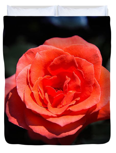 Red Rose Art Duvet Cover