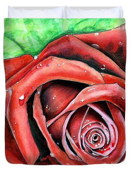 Red Rose Duvet Cover
