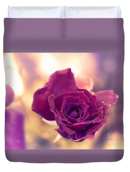 Red Rose Duvet Cover by Charuhas Images