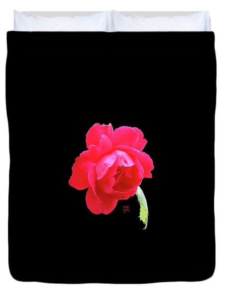 Red Rose Cutout Duvet Cover
