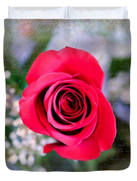 Red Rose Elegance Duvet Cover
