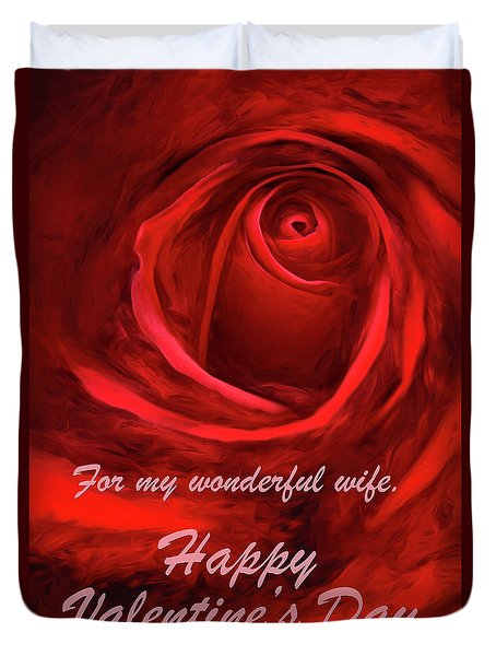 Red Rose II Duvet Cover