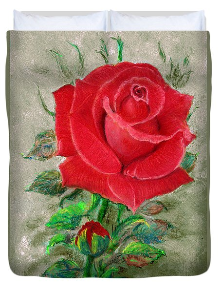 Red Rose Duvet Cover by Jasna Dragun