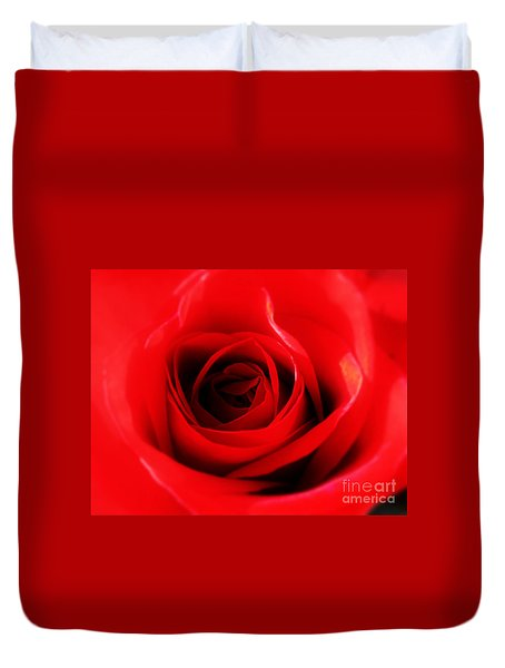 Duvet Cover featuring the photograph Red Rose by Nina Ficur Feenan