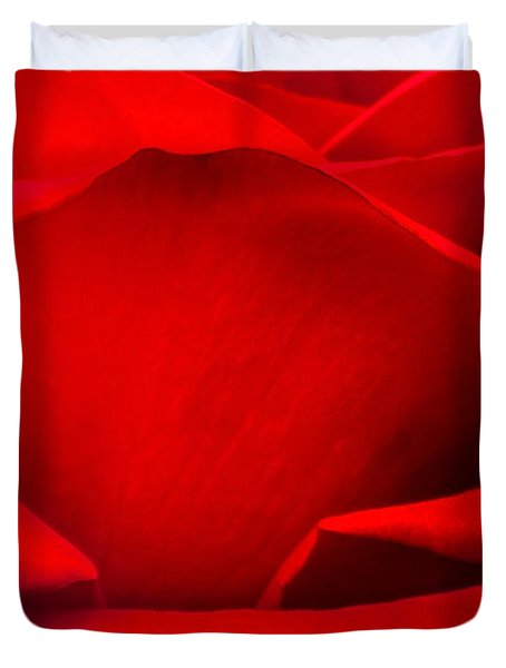 Red Rose Petals Duvet Cover