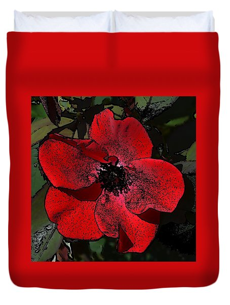 Duvet Cover featuring the photograph Red Rose by Richard Ricci