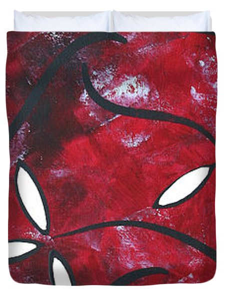 Red Roses 1 By Madart Duvet Cover by Megan Duncanson