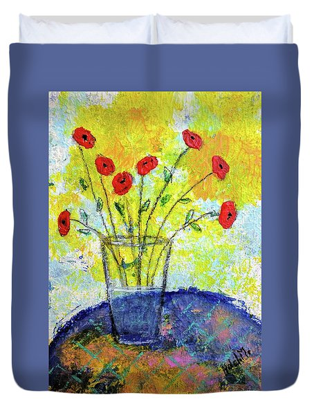 Red Roses For You Duvet Cover
