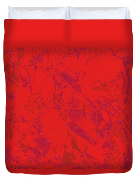 Duvet Cover featuring the photograph Red Rules by Nareeta Martin