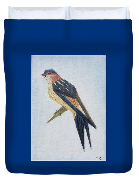 Red-rumped Swallow Duvet Cover