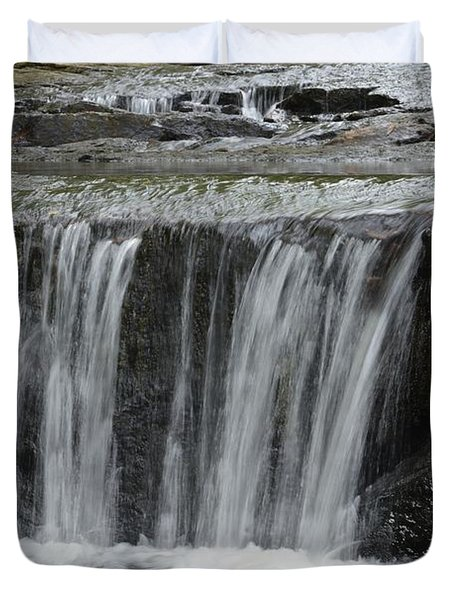 Red Run Waterfall Duvet Cover