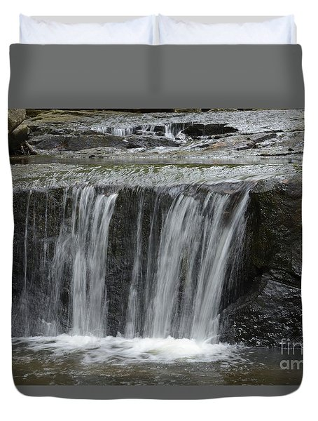 Red Run Waterfall Duvet Cover by Randy Bodkins