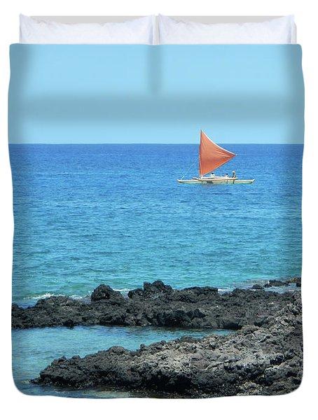 Red Sail Duvet Cover
