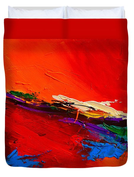 Red Sensations Duvet Cover
