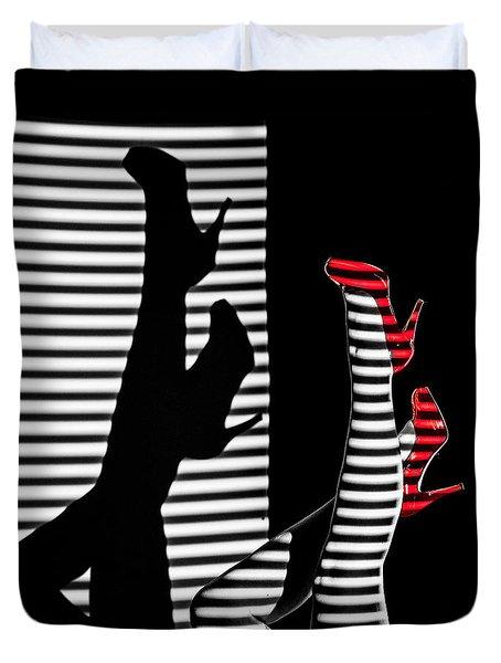 Red Shoe Diaries Duvet Cover