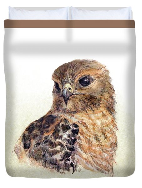 Red-shouldered Hawk Duvet Cover