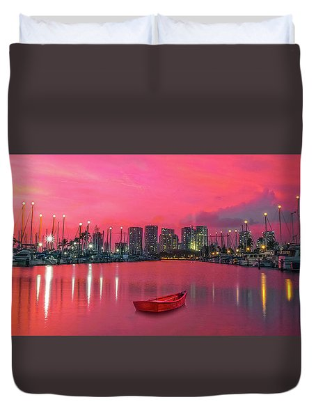 Red Skies At Night Duvet Cover