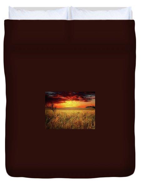 Red Skies Duvet Cover