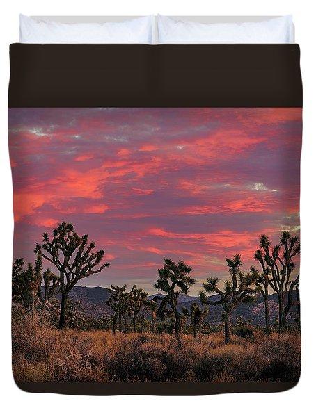 Red Sky Over Joshua Tree Duvet Cover