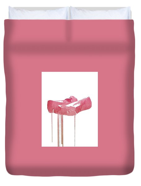 Red Slippers Duvet Cover