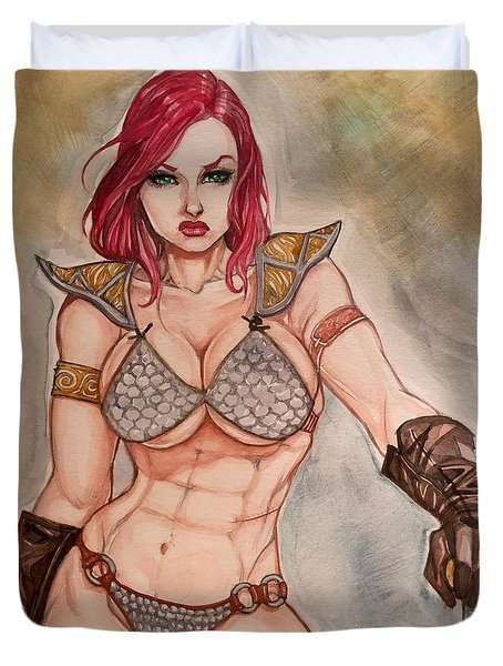 Red Sonja Duvet Cover