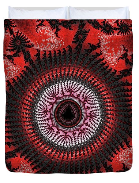 Red Spiral Infinity Duvet Cover