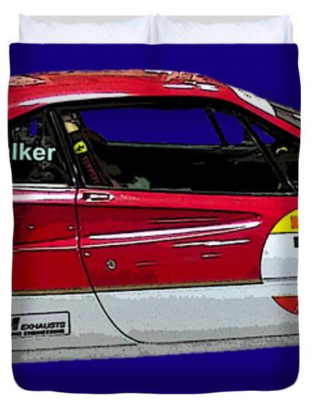 Red Sports Racer Art Duvet Cover