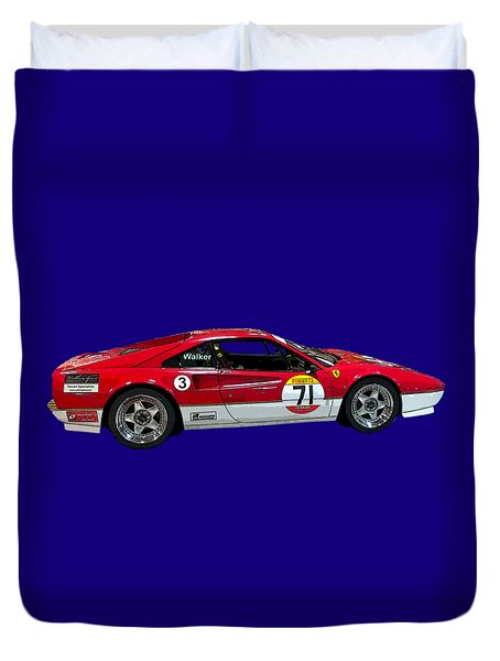 Red Sports Racer Art Duvet Cover
